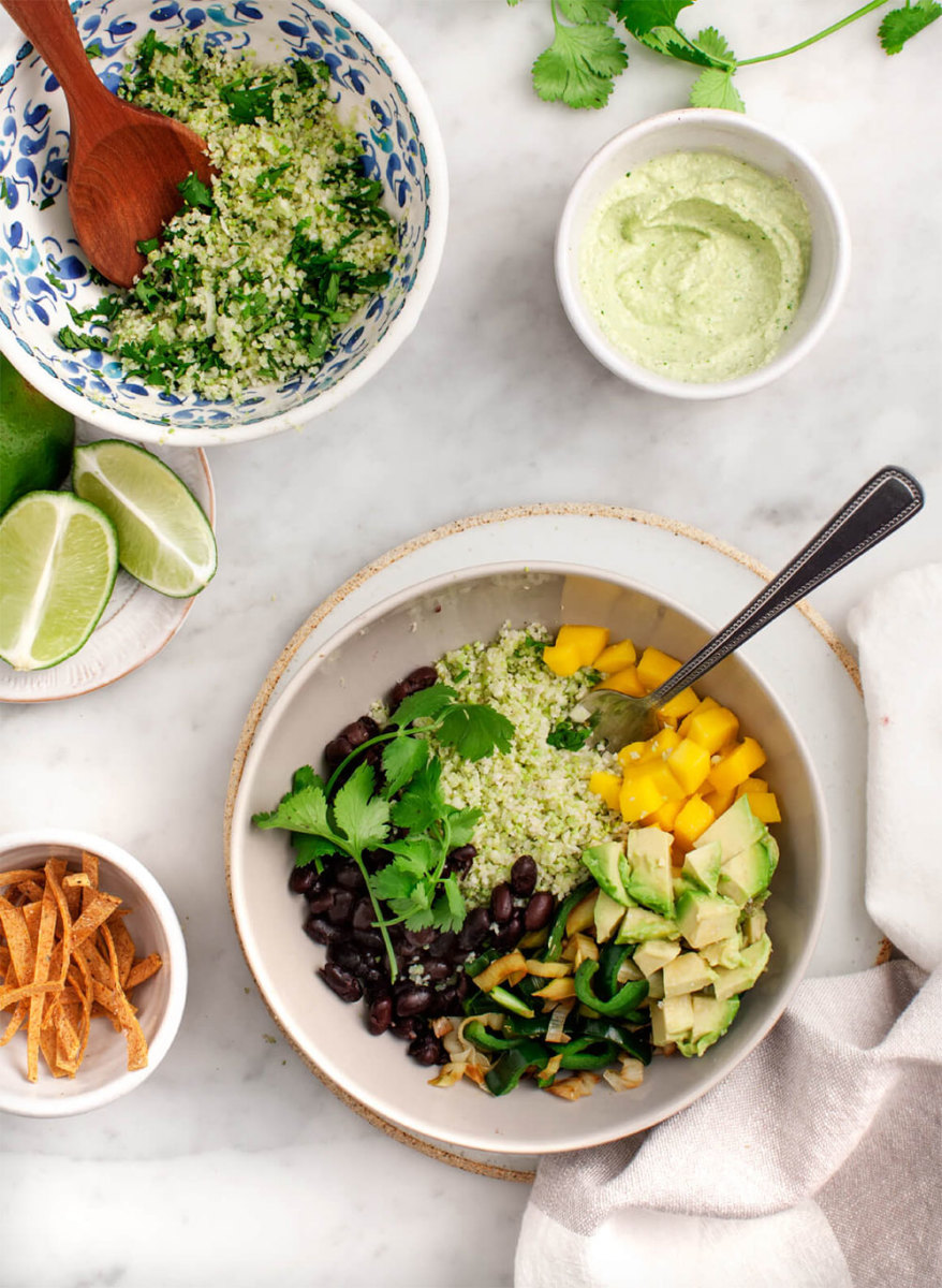 Burrito Bowl with Cauliflower Rice Recipe