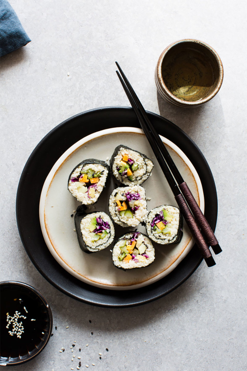 Cauliflower Rice Sushi Recipe