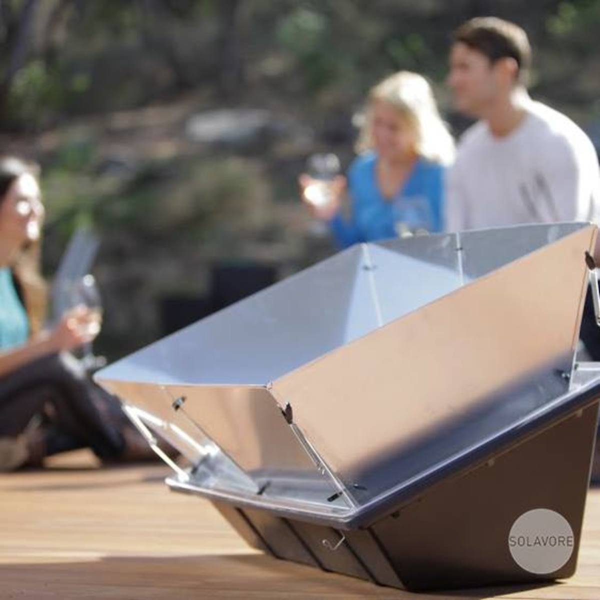 The Solavore solar oven is great for cooking outdoors.