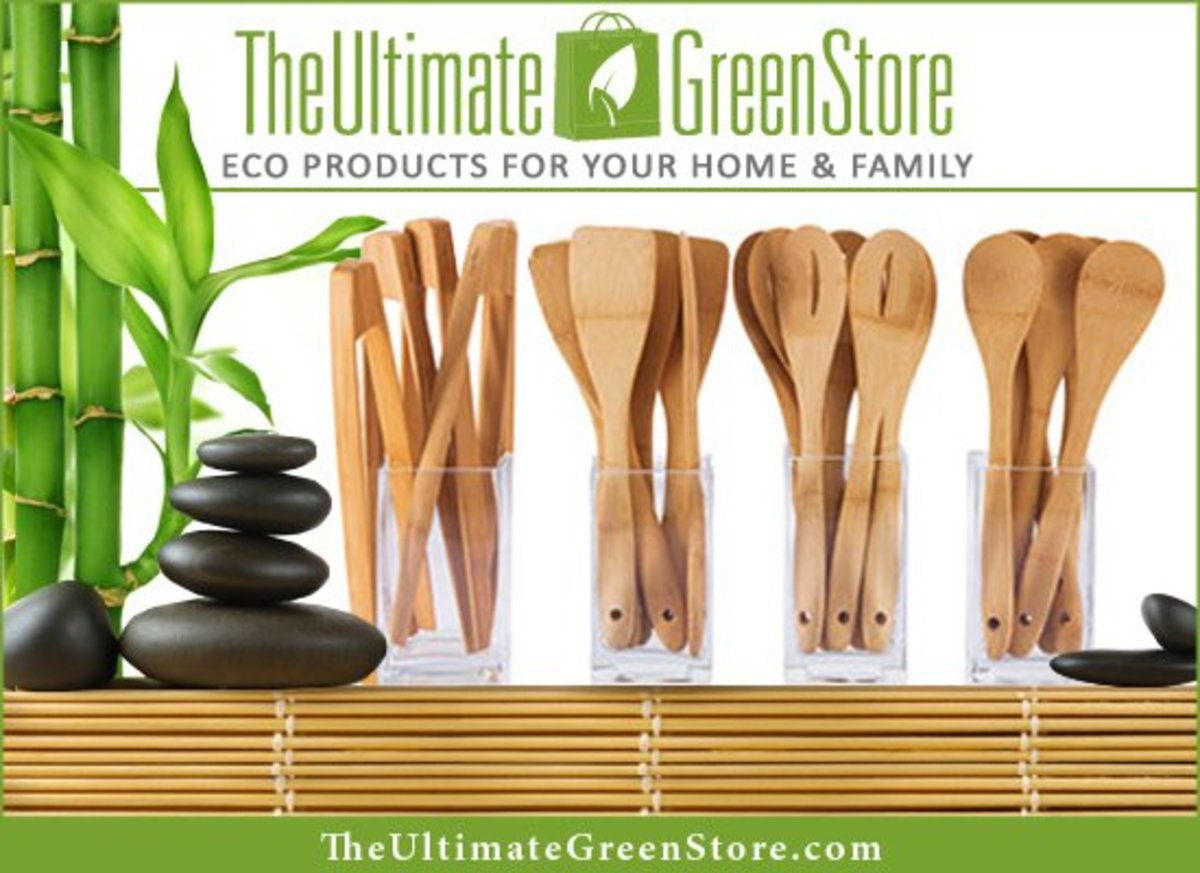 The Ultimate Green Store's Bamboo Cooking Utensils