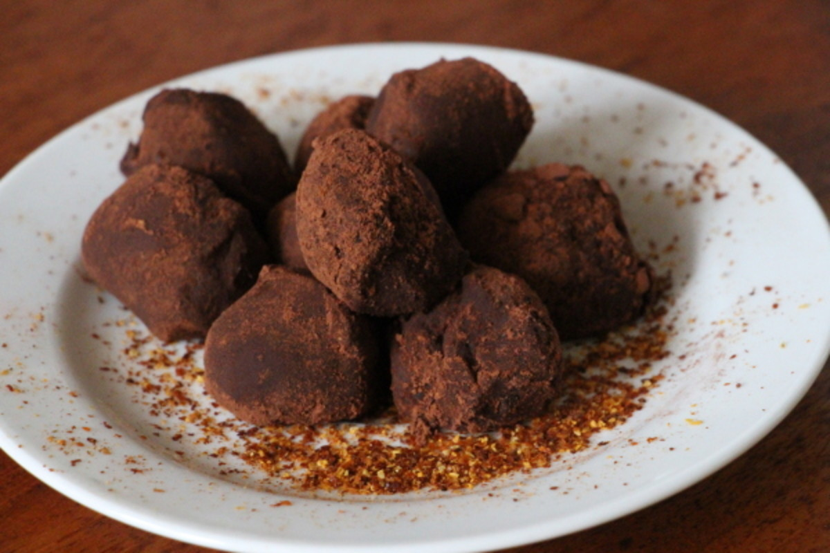 ... homemade chocolate truffle recipe with just a soupçon of surprise