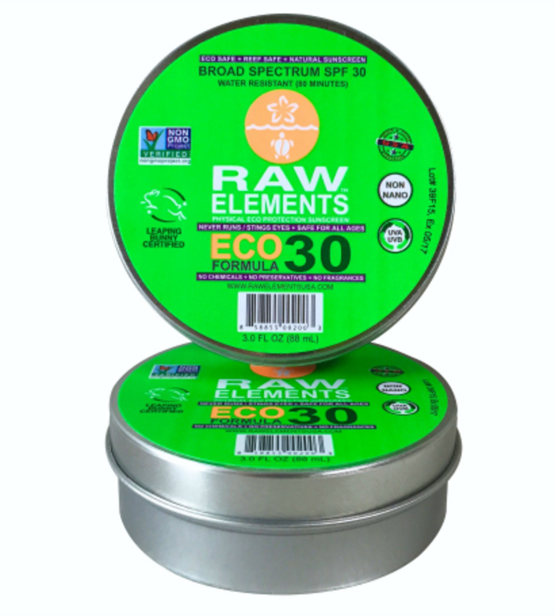 Natural Sunscreen Raw Elements 30