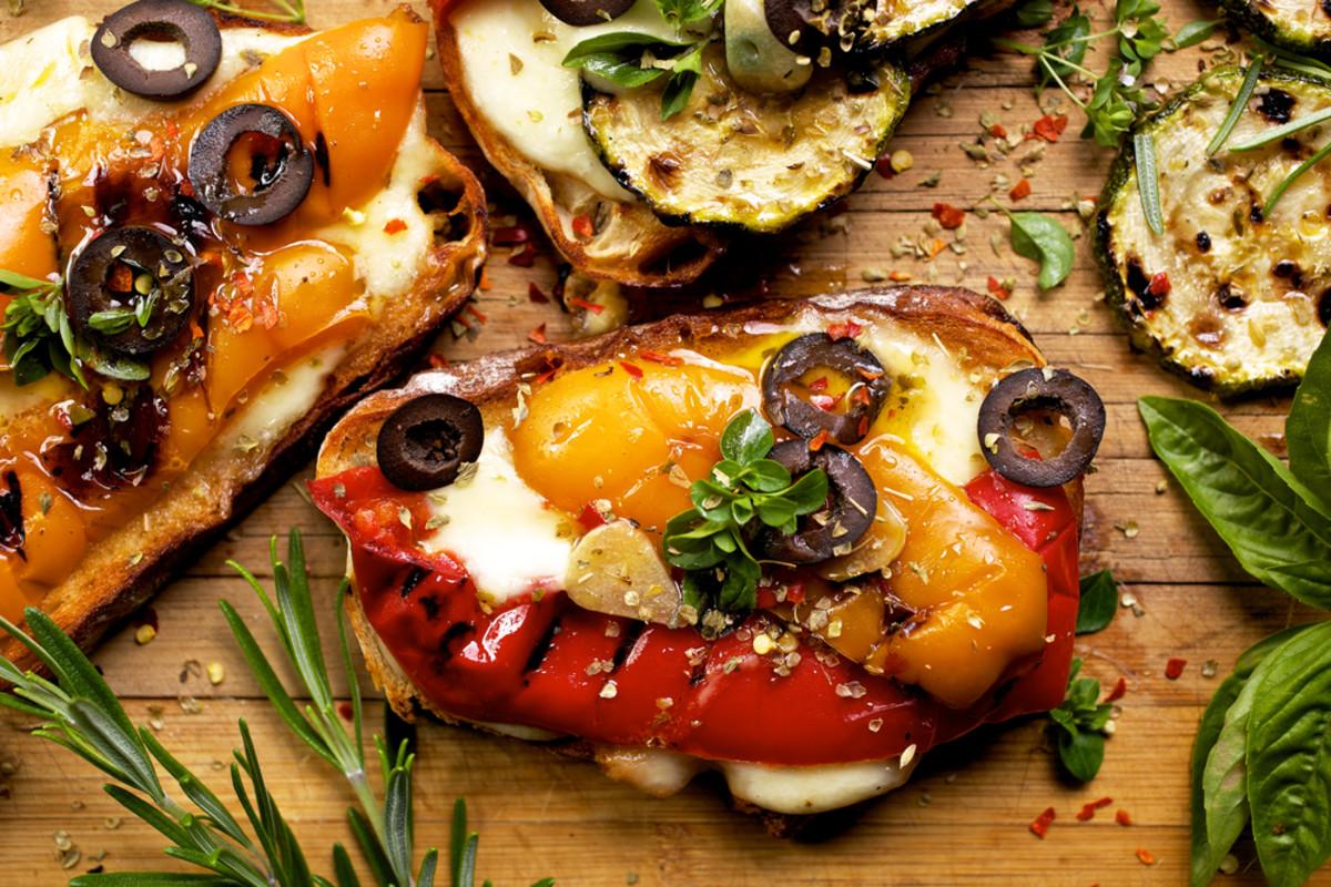 grilled vegetable bruschetta recipe