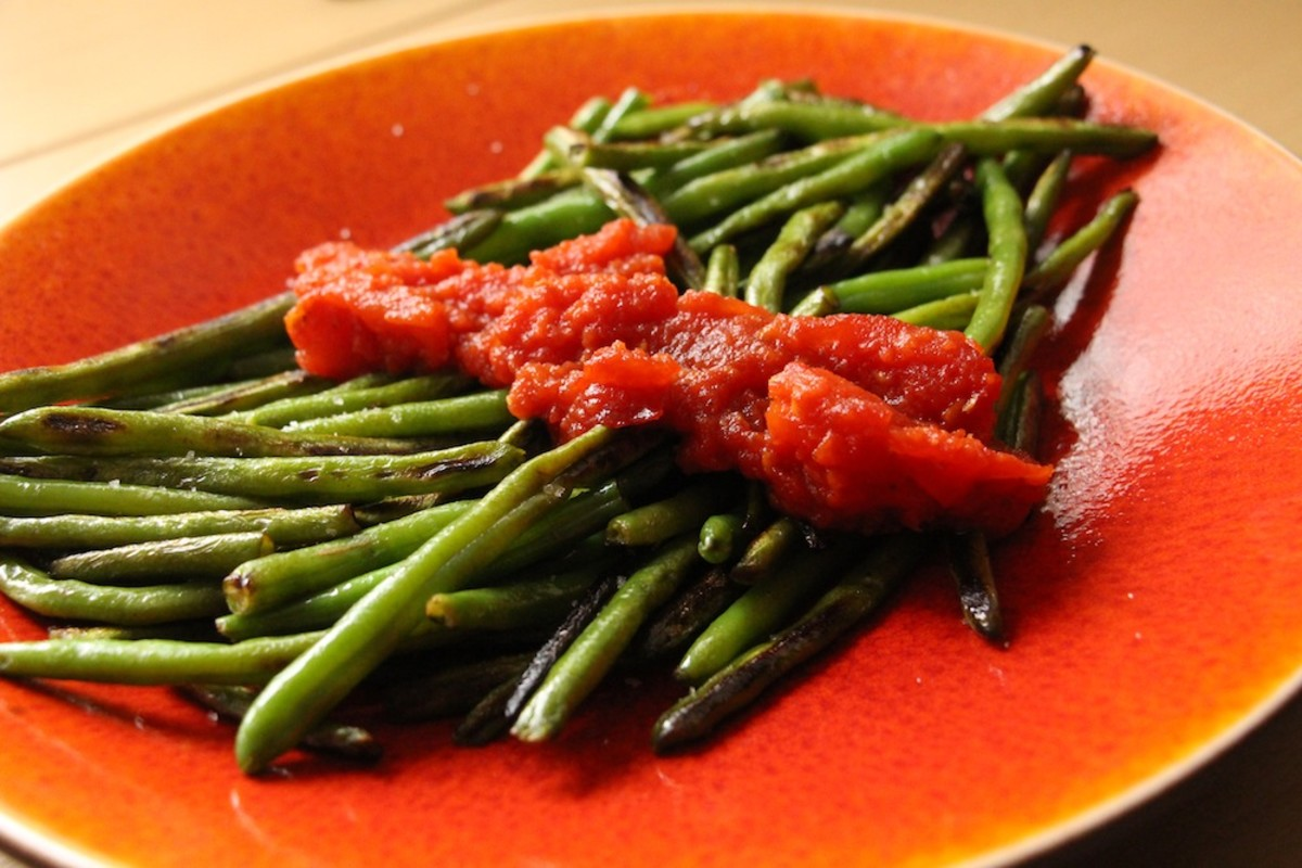 green beans and tomato preserve