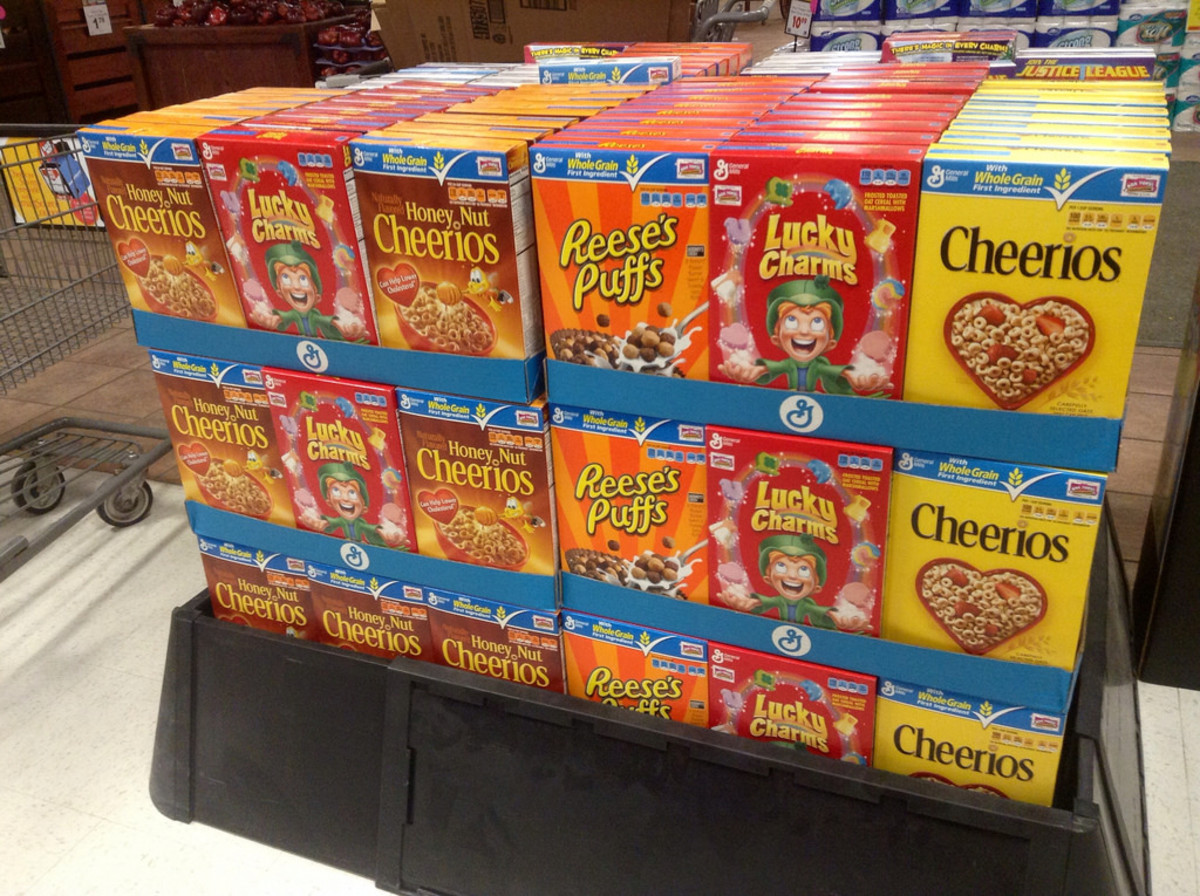 sugary kids cereals photo