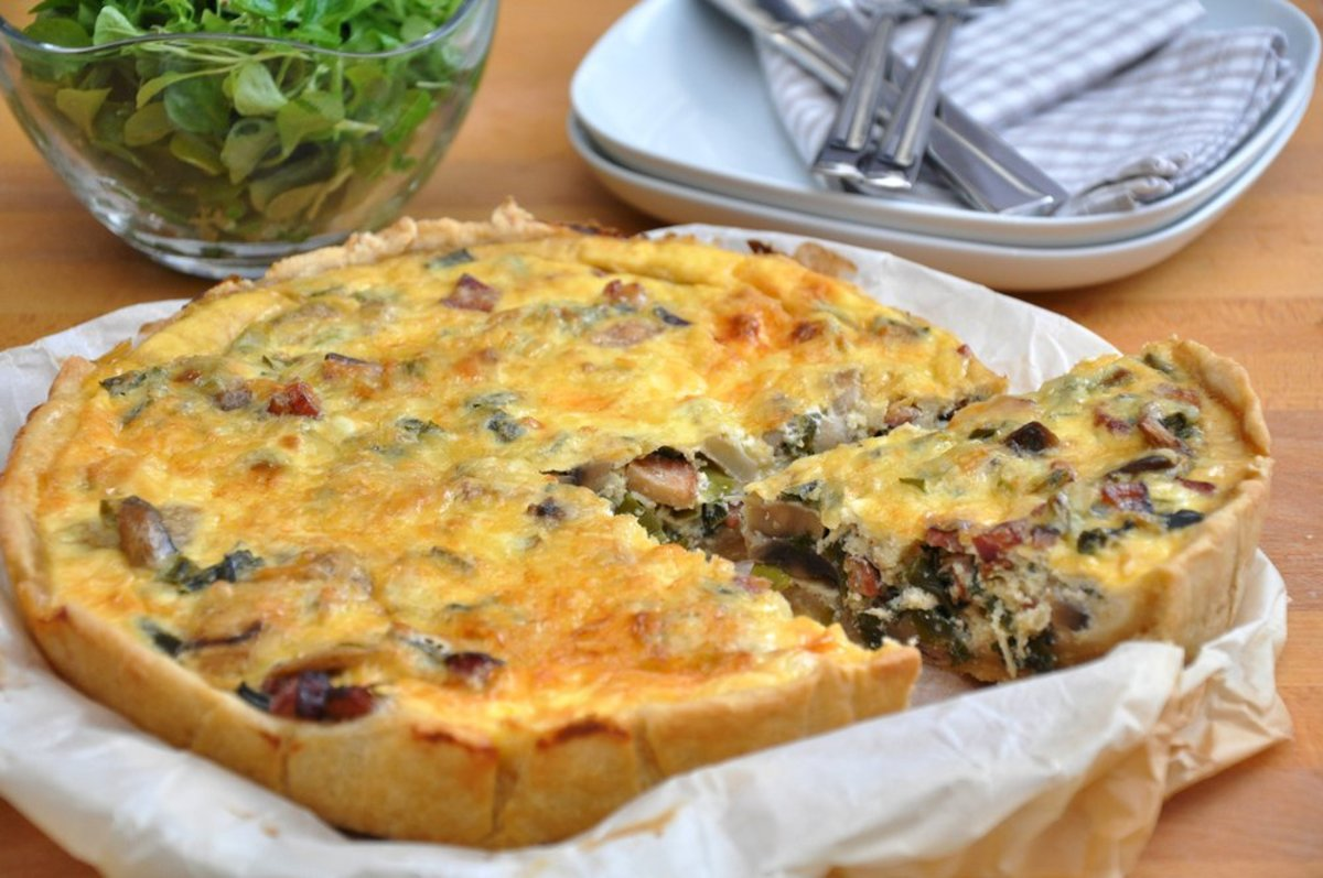Quiche with Mushrooms Image from Shutterstock