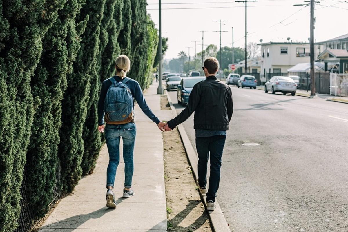 romantic couple photo