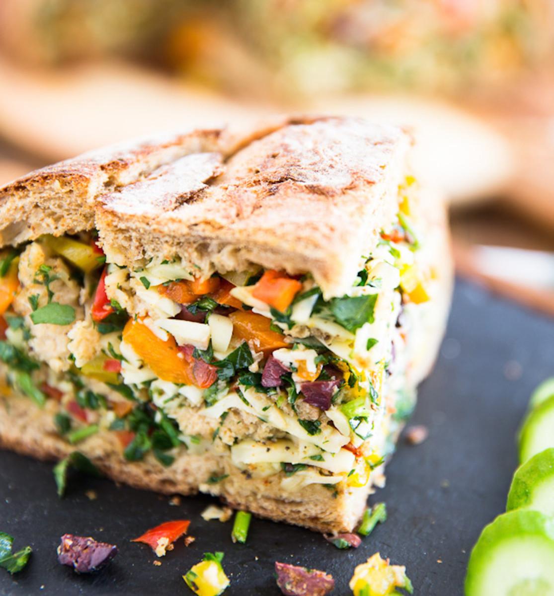 Vegetarian-Muffuletta