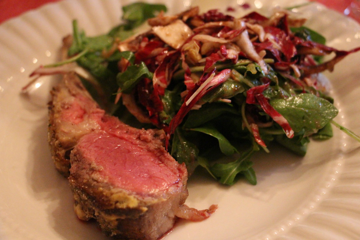 Lamb and salad