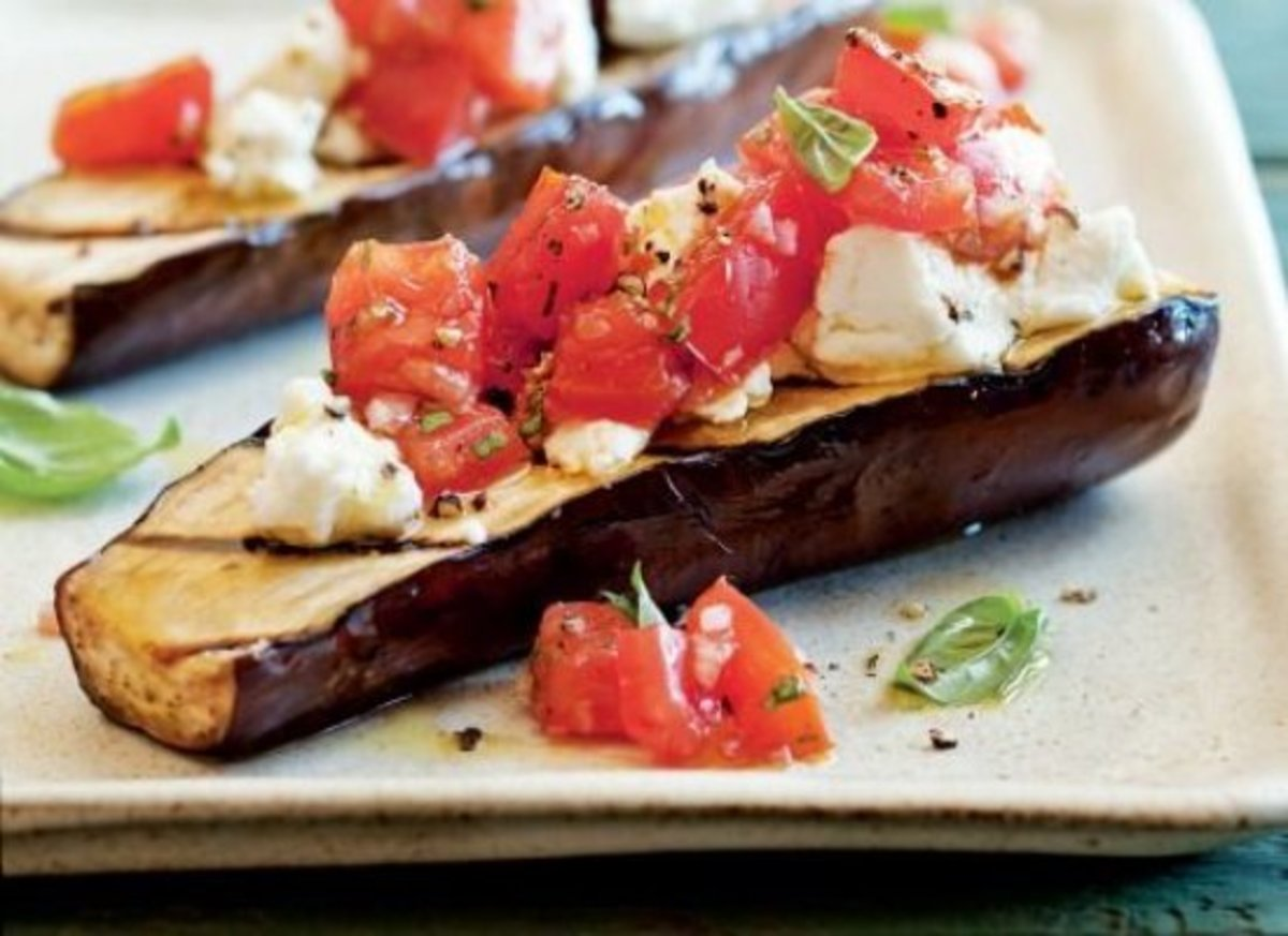 grilled-eggplant-with-goat-cheese