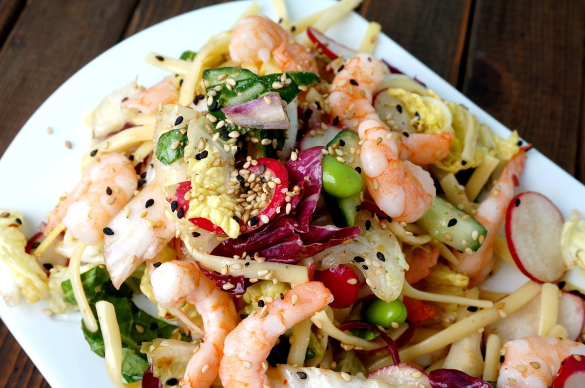 shrimp noodle salad