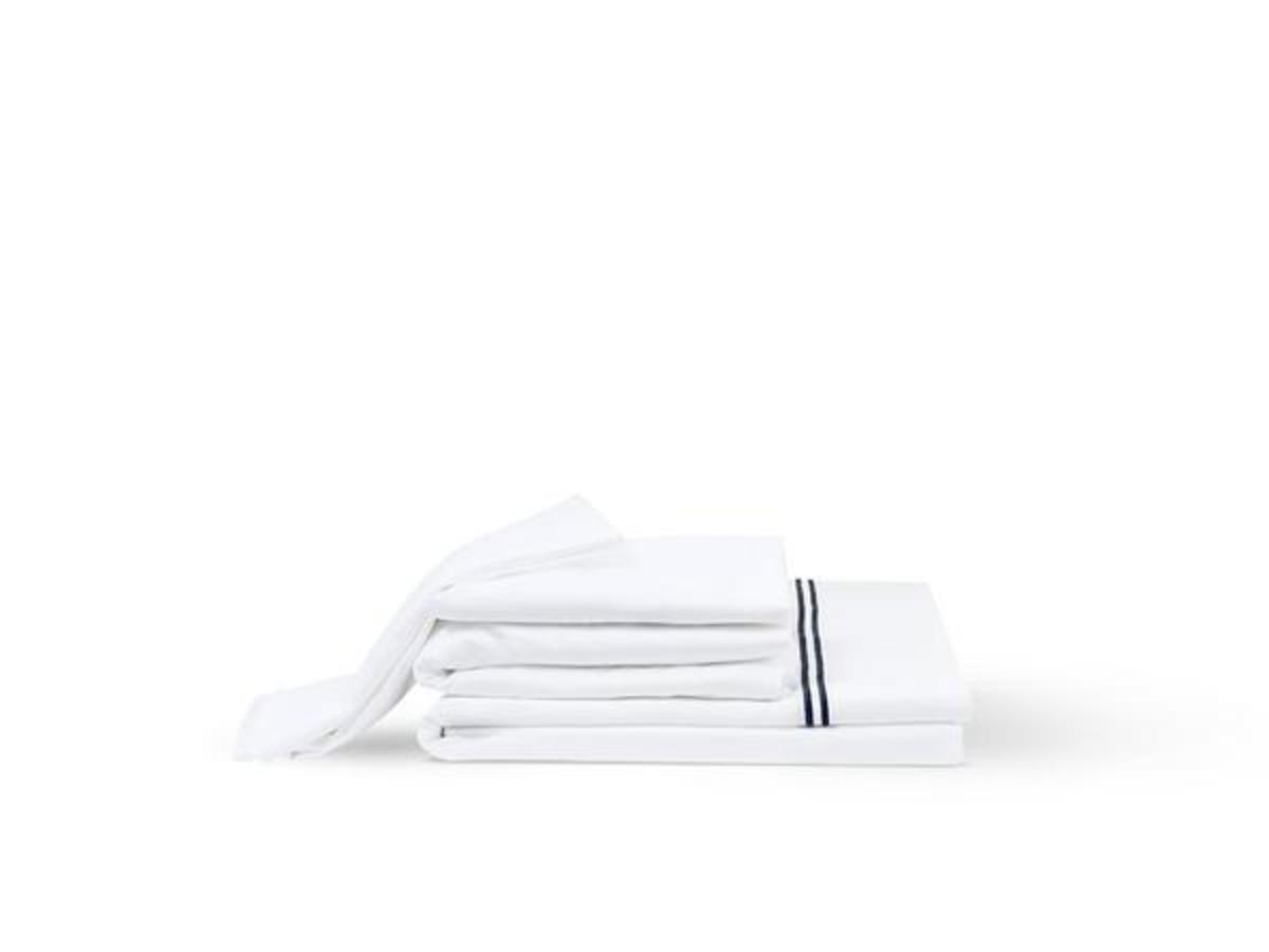 White Spindle Organic Bed Sheets