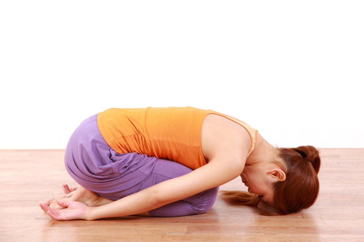 yoga child's pose photo