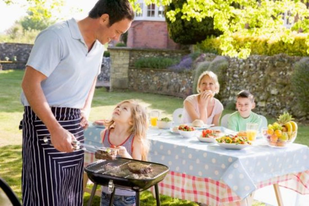 Family Grilling Together