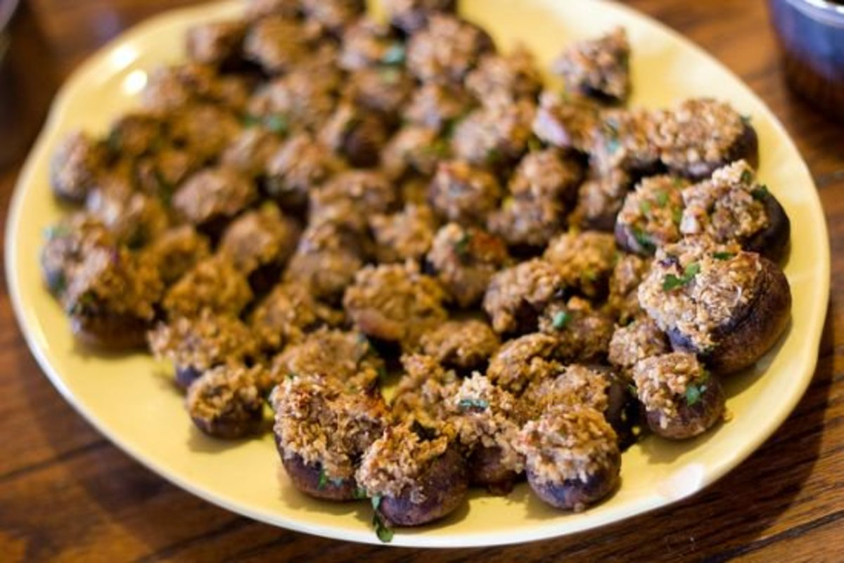 mushroom recipes - stuffed mushrooms