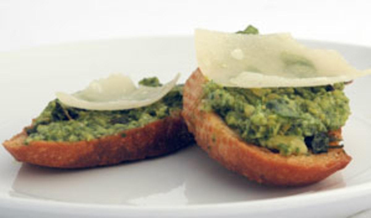 Organic-Arugula-Fava-Bean-Bruschetta