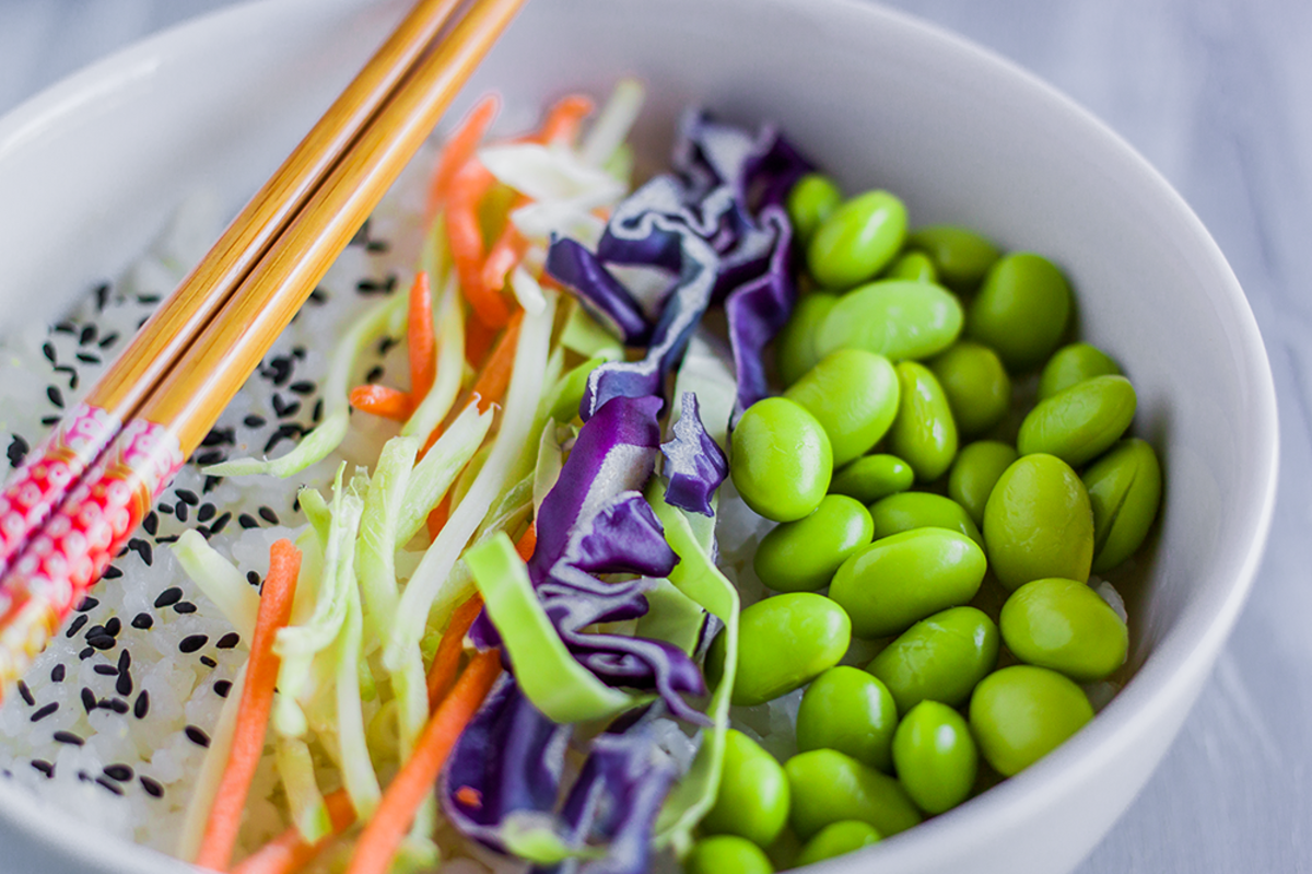 Vegan Sushi Bowl with Cabbage Recipe