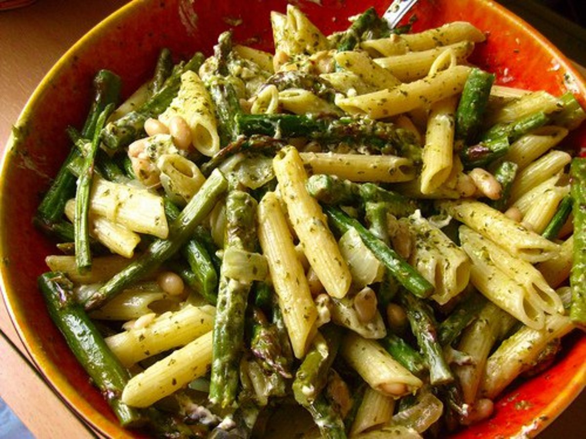 asparagus and white bean pasta