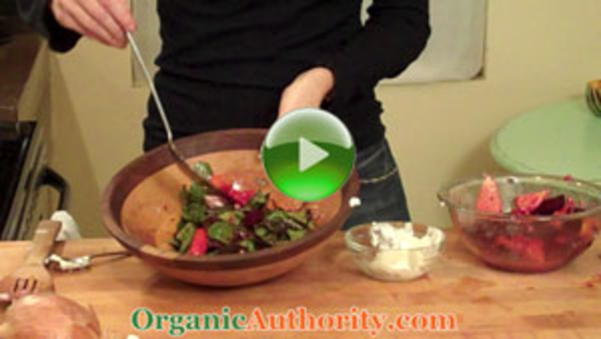Roasted Organic Beet Salad with Aged Goat Cheese Recipe