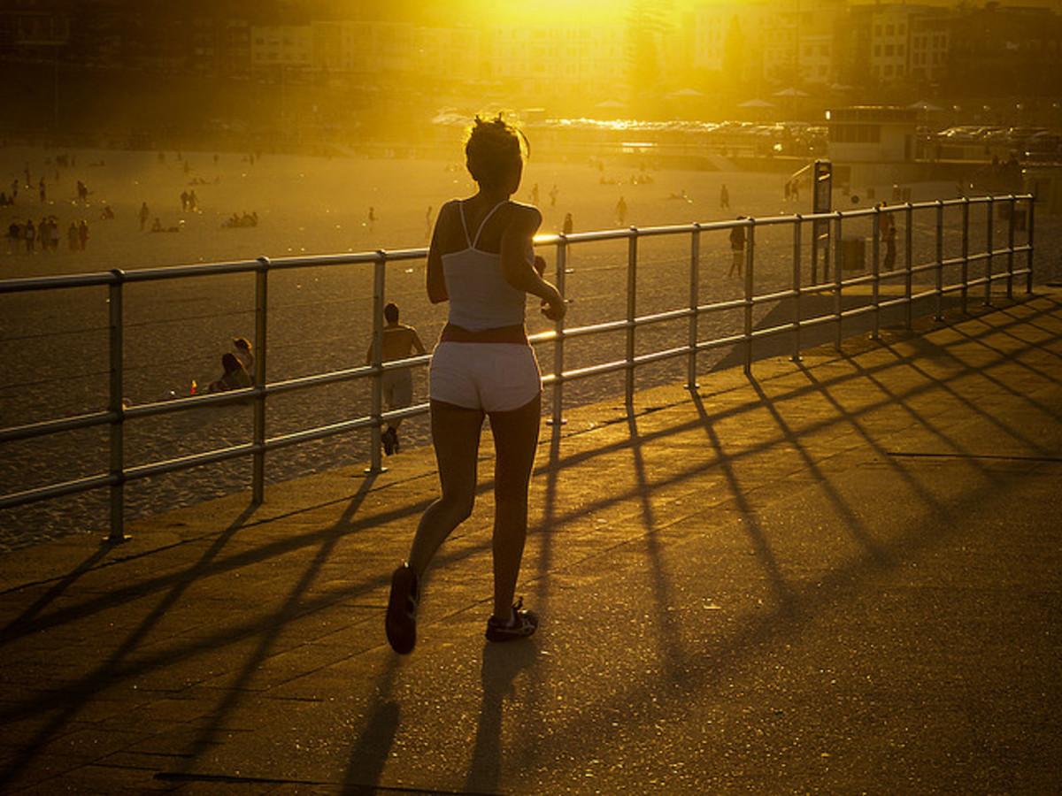 girl running photo