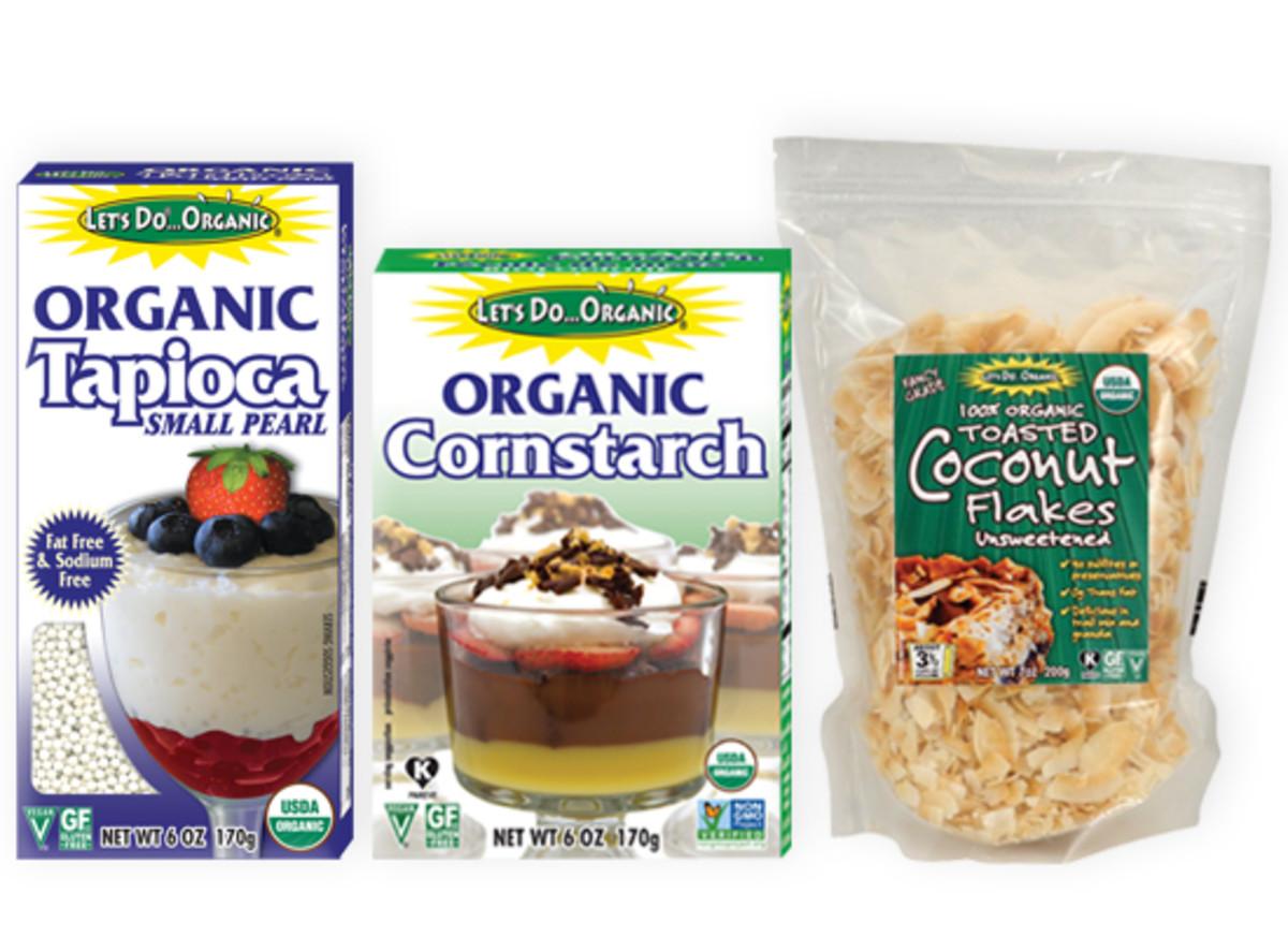 Let's Do Organic Tapioca Pearls, Cornstarch, Toasted Coconut Flakes