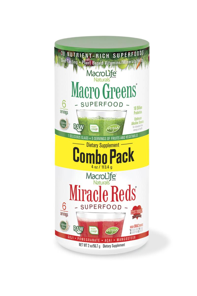 MacroLife Naturals Greens+Reds Combo Pack
