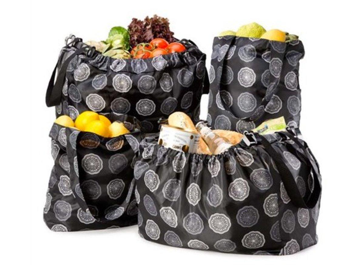 Reuseit.com 5-piece Sachi Market Tote Reuseable Bag Set
