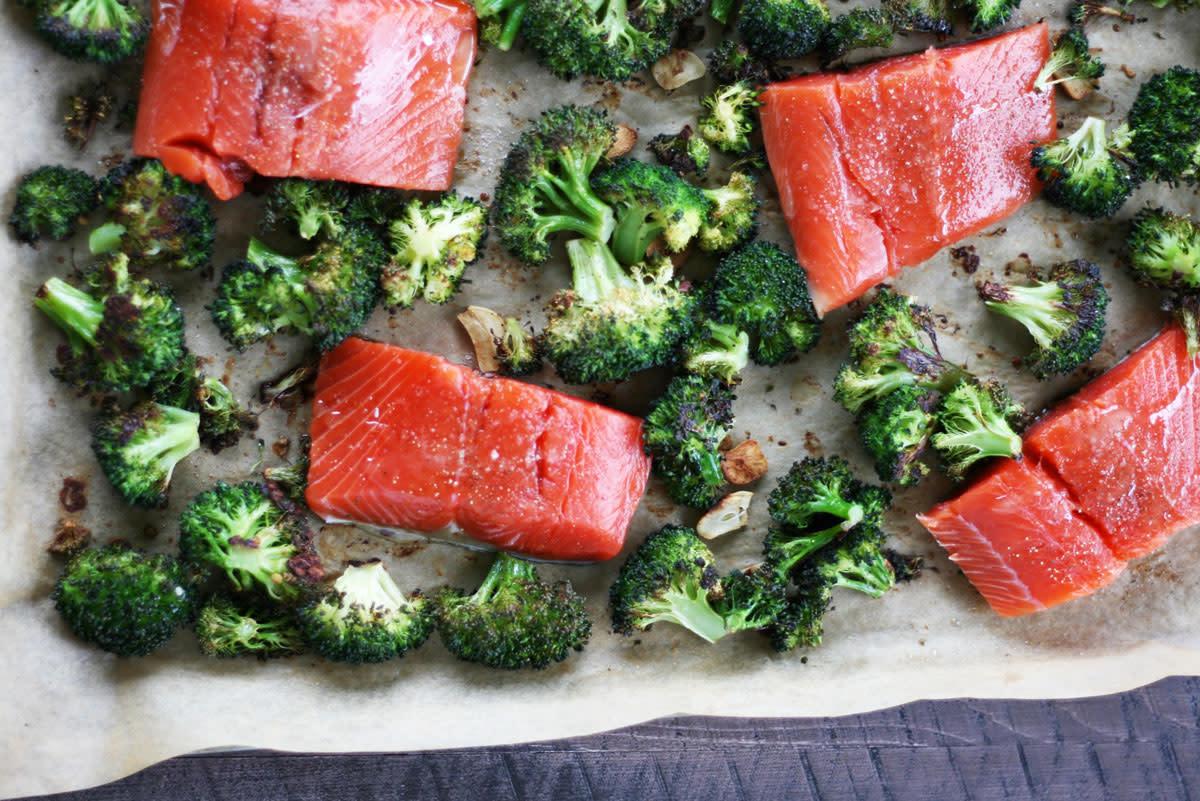 Asian Salmon With Broccoli: One Pan Wonder