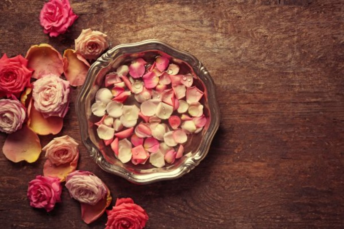 edible flowers, rose