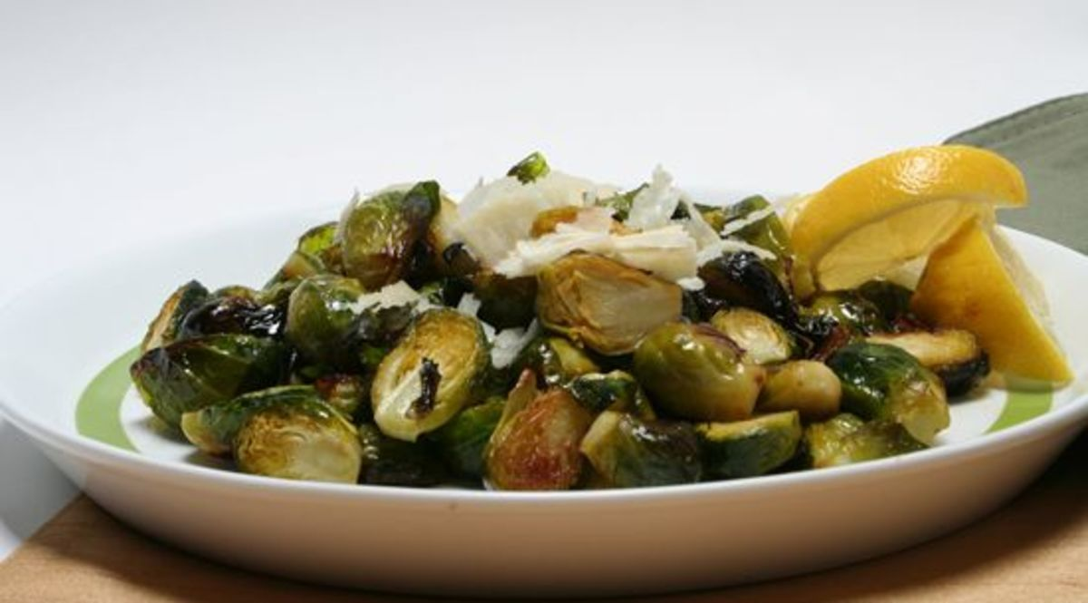 Roasted Brussels Sprouts with Lemon and Parmesan