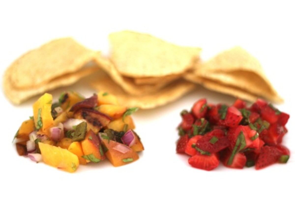 Peach and Strawberry Salsa