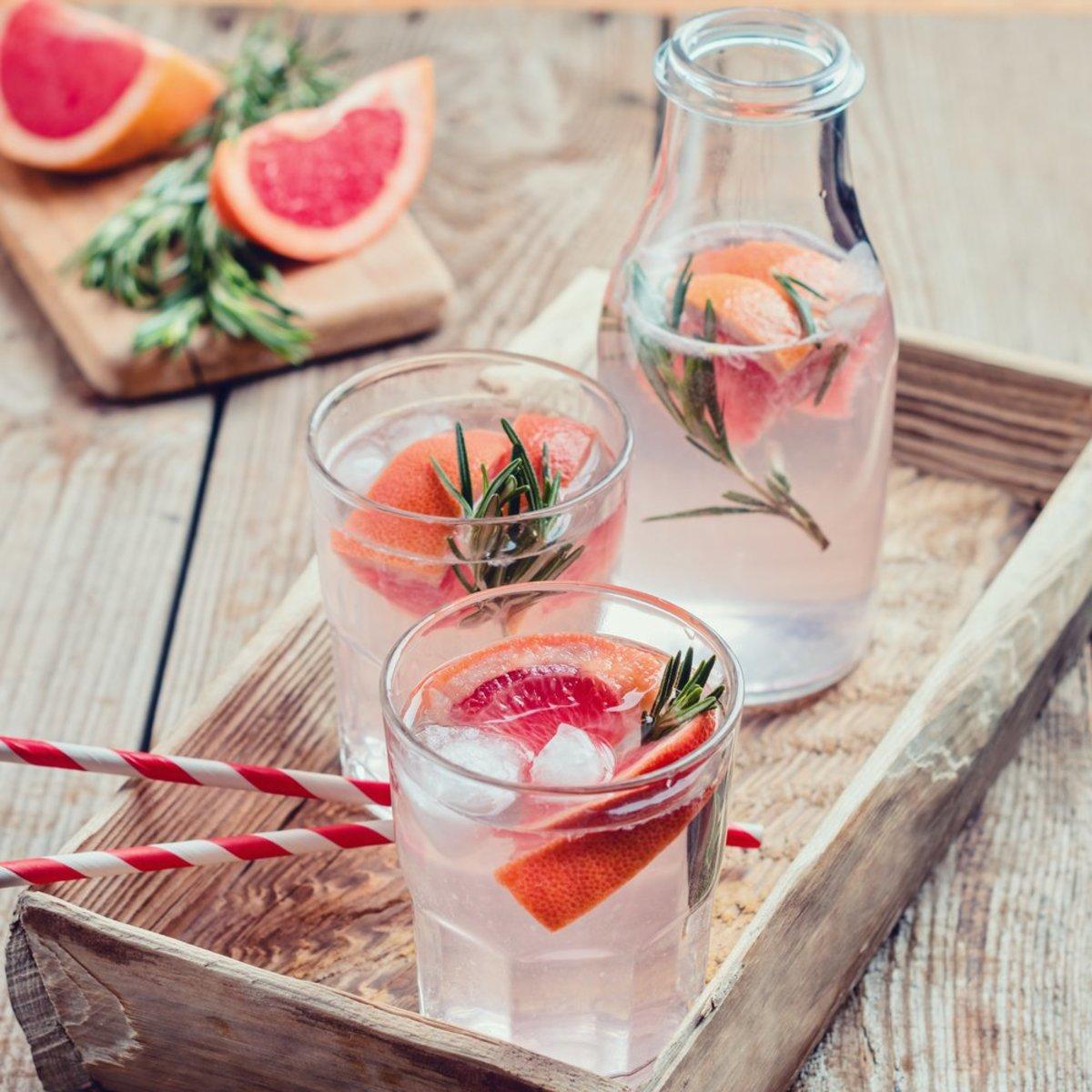 grapefruit-infused water
