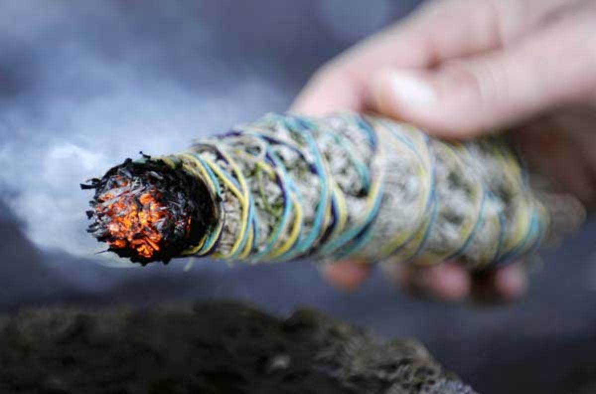 Smudging Your Home With Sage Sweetgrass And Palo Santo