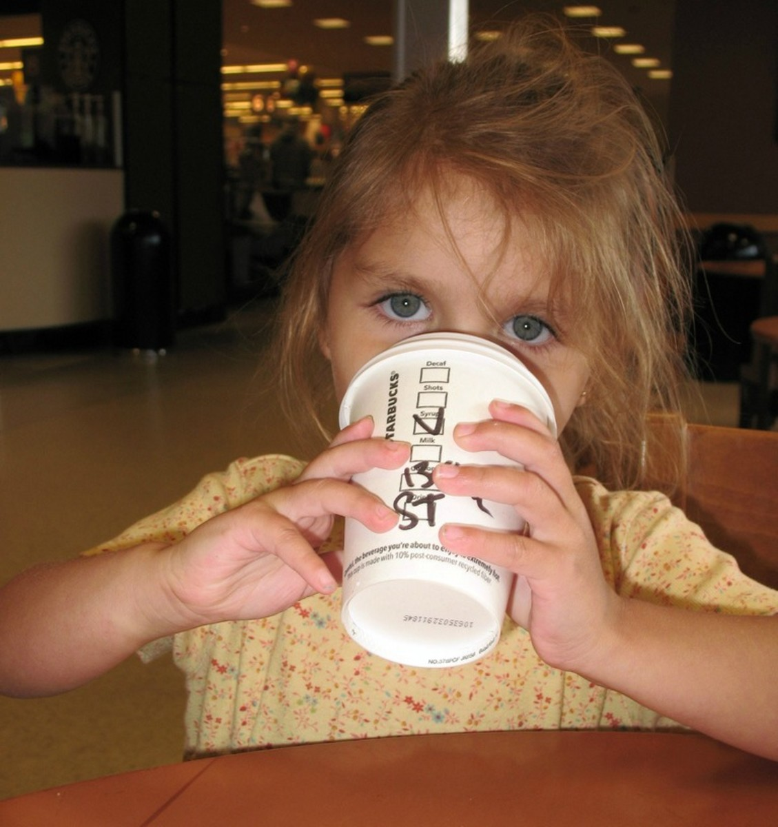 kids and coffee photo