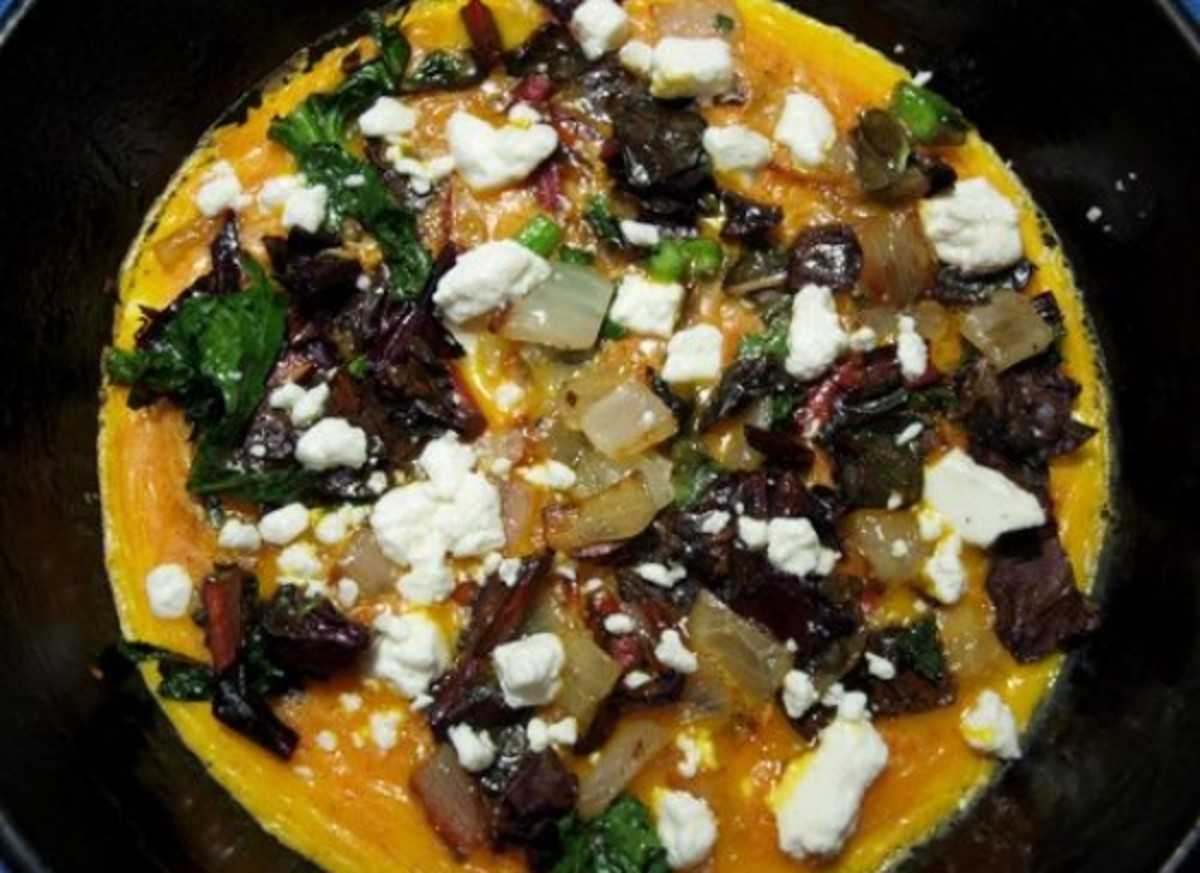 chard-goat-cheese-omelet