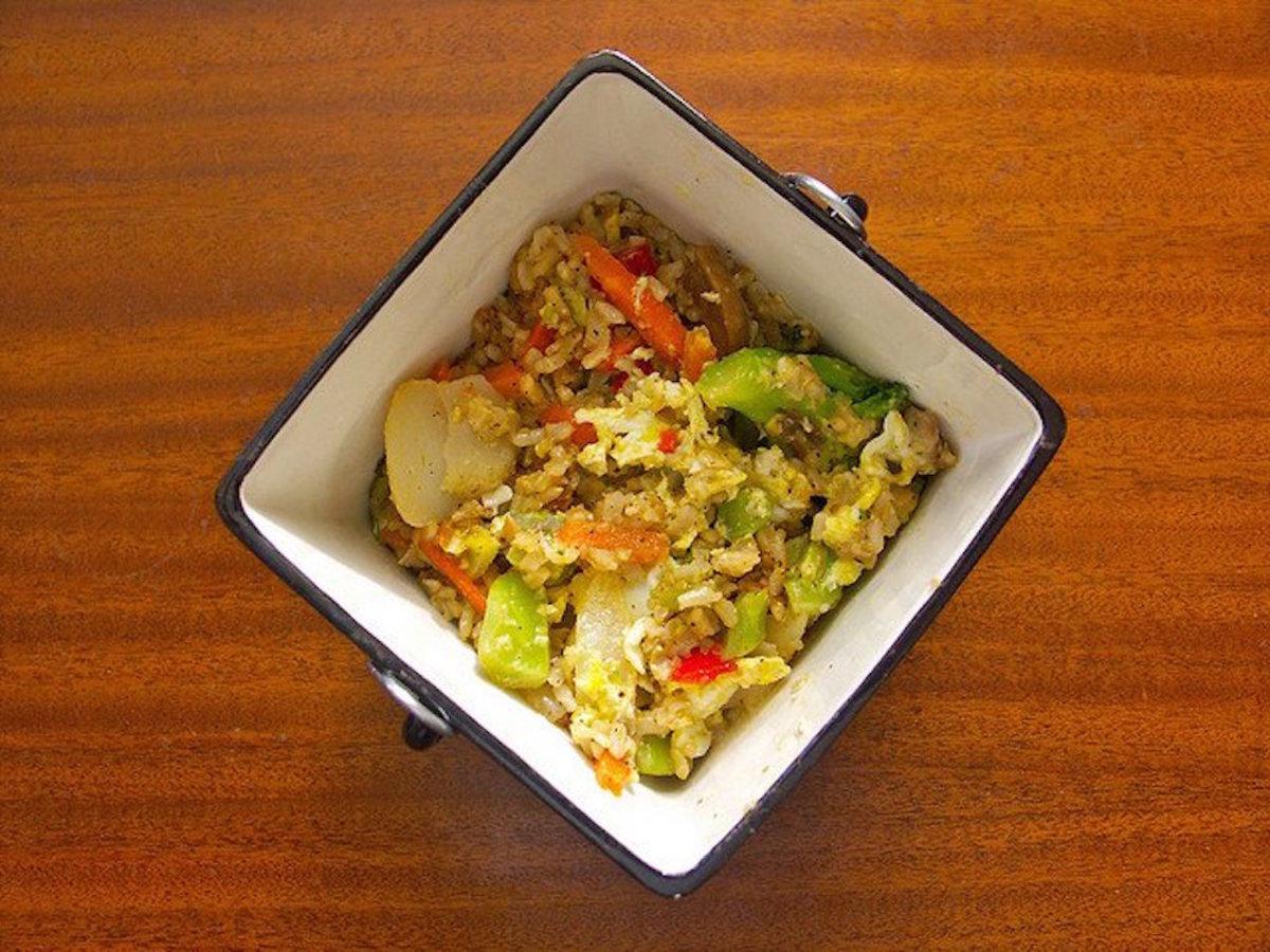 vegetable fried cauliflower rice