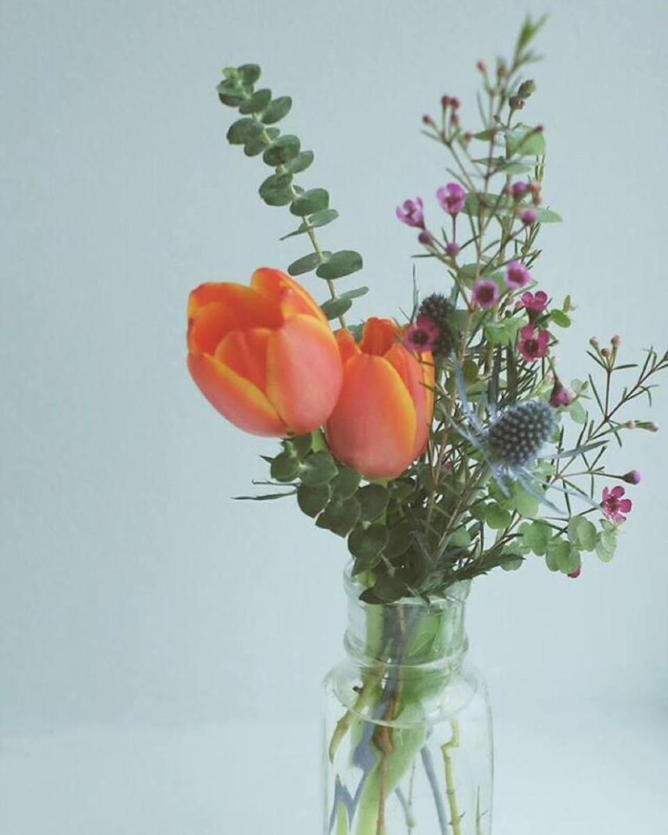 True Leaves Floral, vase