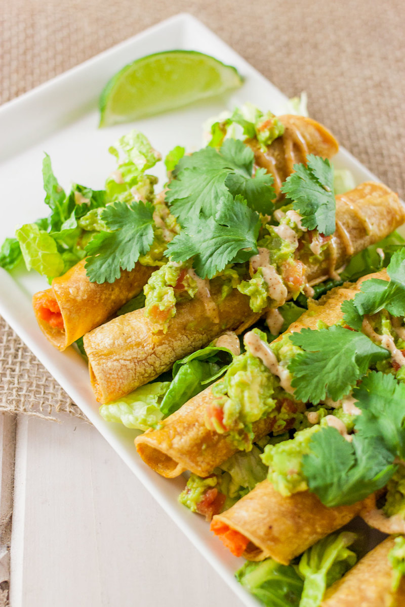 Sweet Potato Taquitos with Chipotle Mayo Recipe