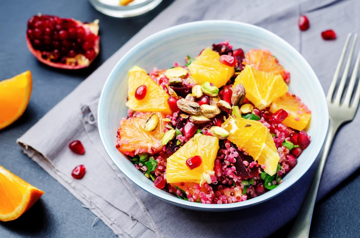 quinoa salad with oranges
