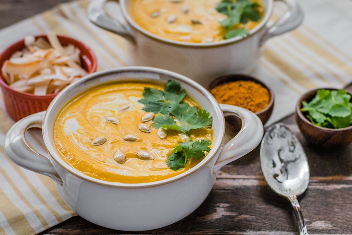 Curried Butternut Squash Soup with a Delicious Secret Ingredient