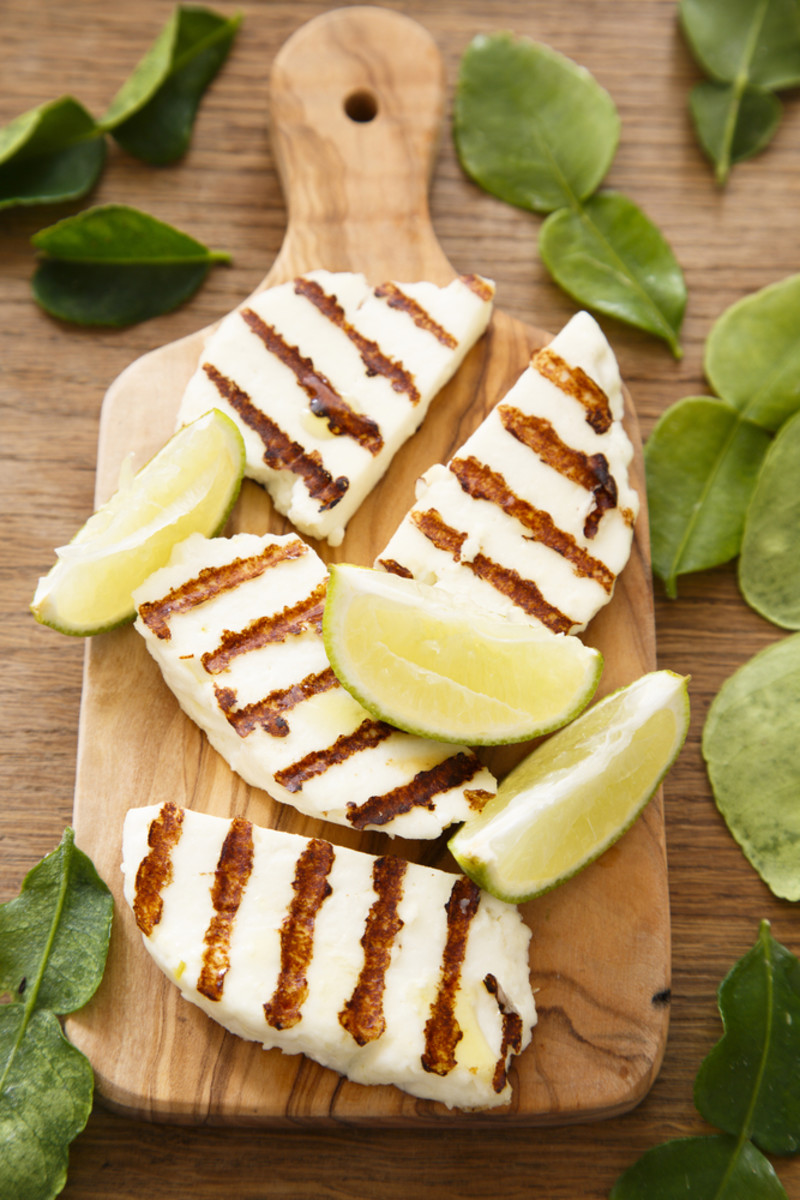 grilled halloumi