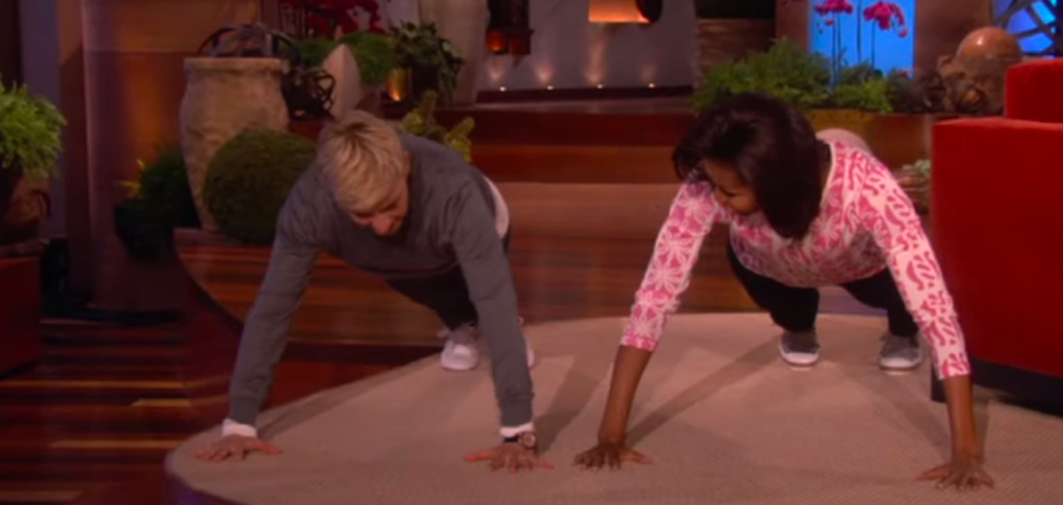 Michelle Obama and Ellen DeGeneres Do Tons of Push-Ups and Here's Why You Should Too