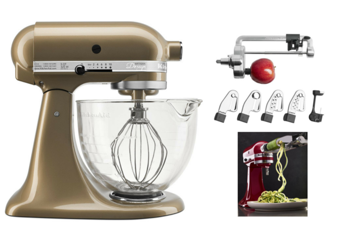 The KitchenAid giveaway is perfect for the holidays.