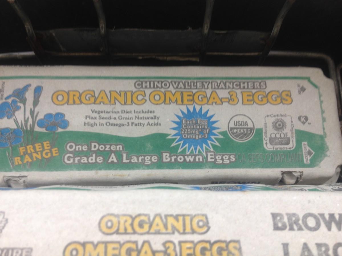 Organic vegetarian eggs