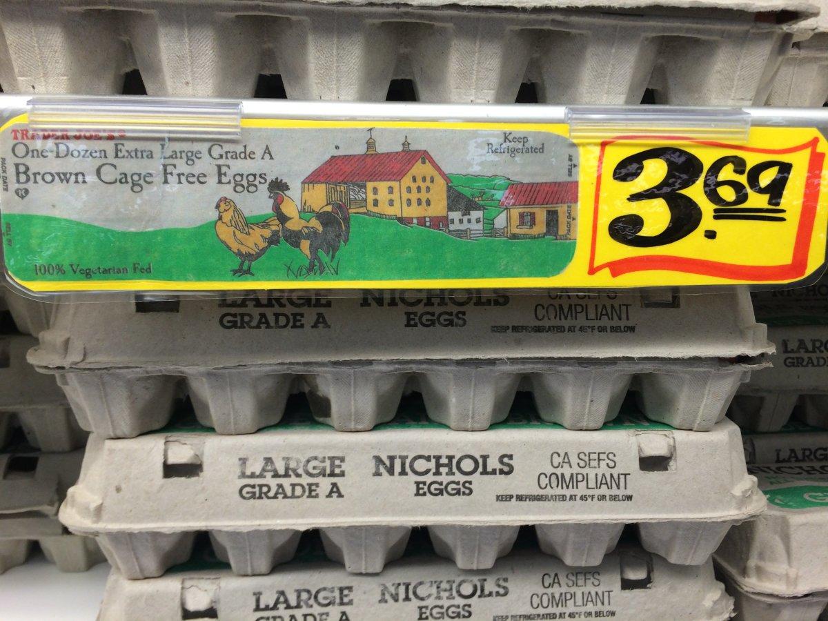 Cage free eggs Trader Joe's