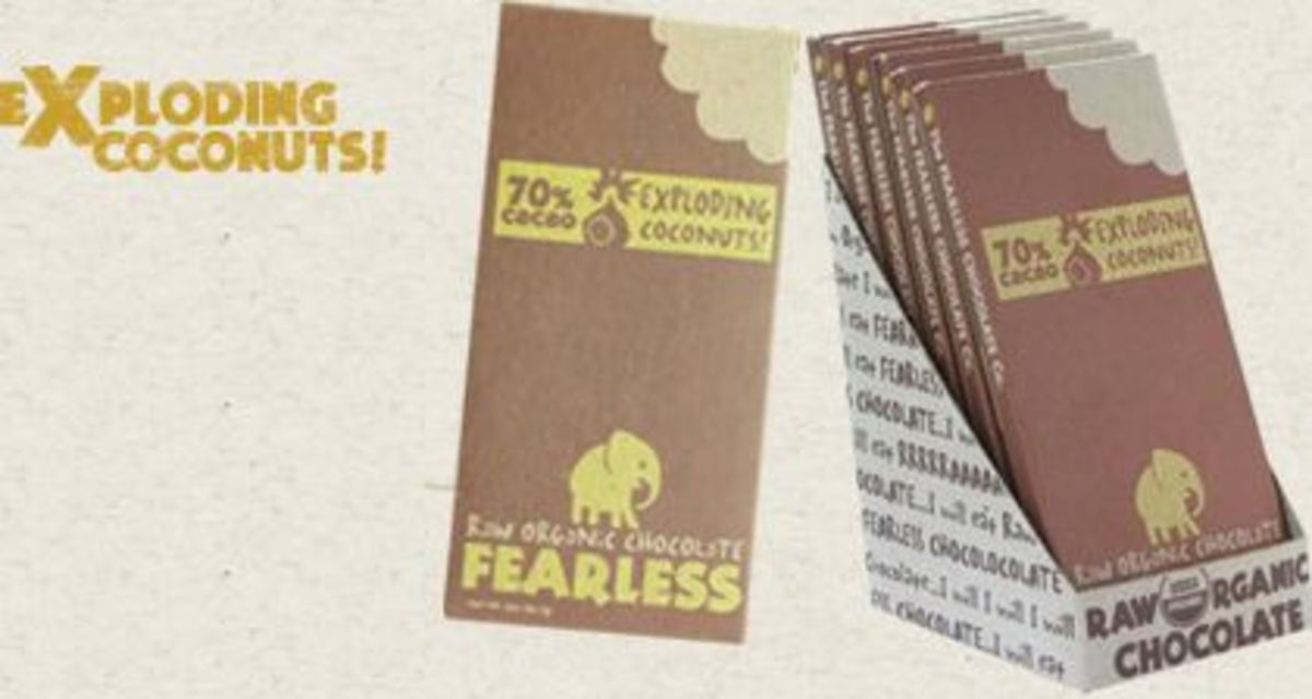 Fearless uses all raw chocolate and ingredients
