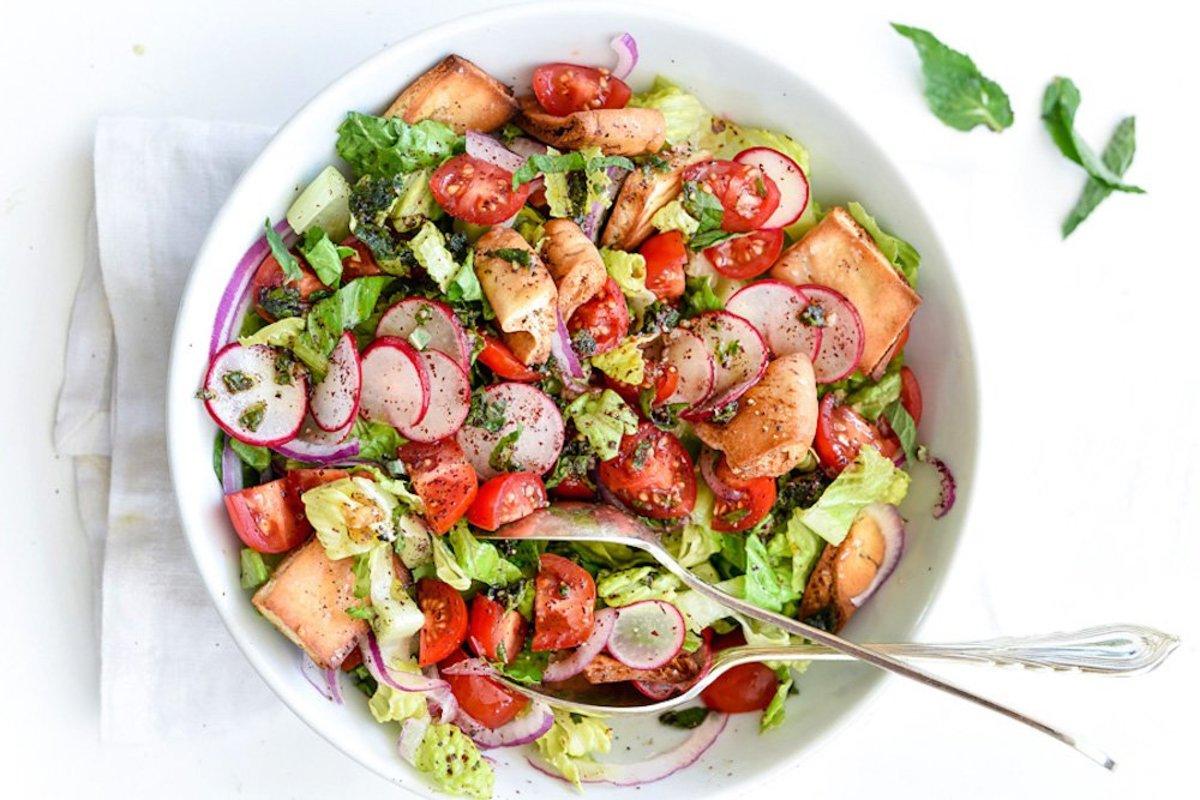 fattoush salad mediterranean recipes
