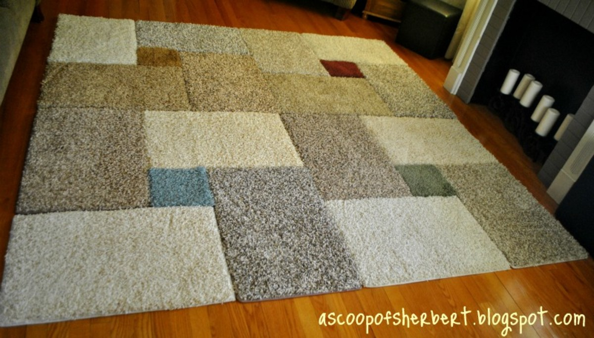 Carpet Squares Rug Turn Sample Into A Colorful Geometric Modern With This Super Easy Idea For Diy No Special Skills Are Required