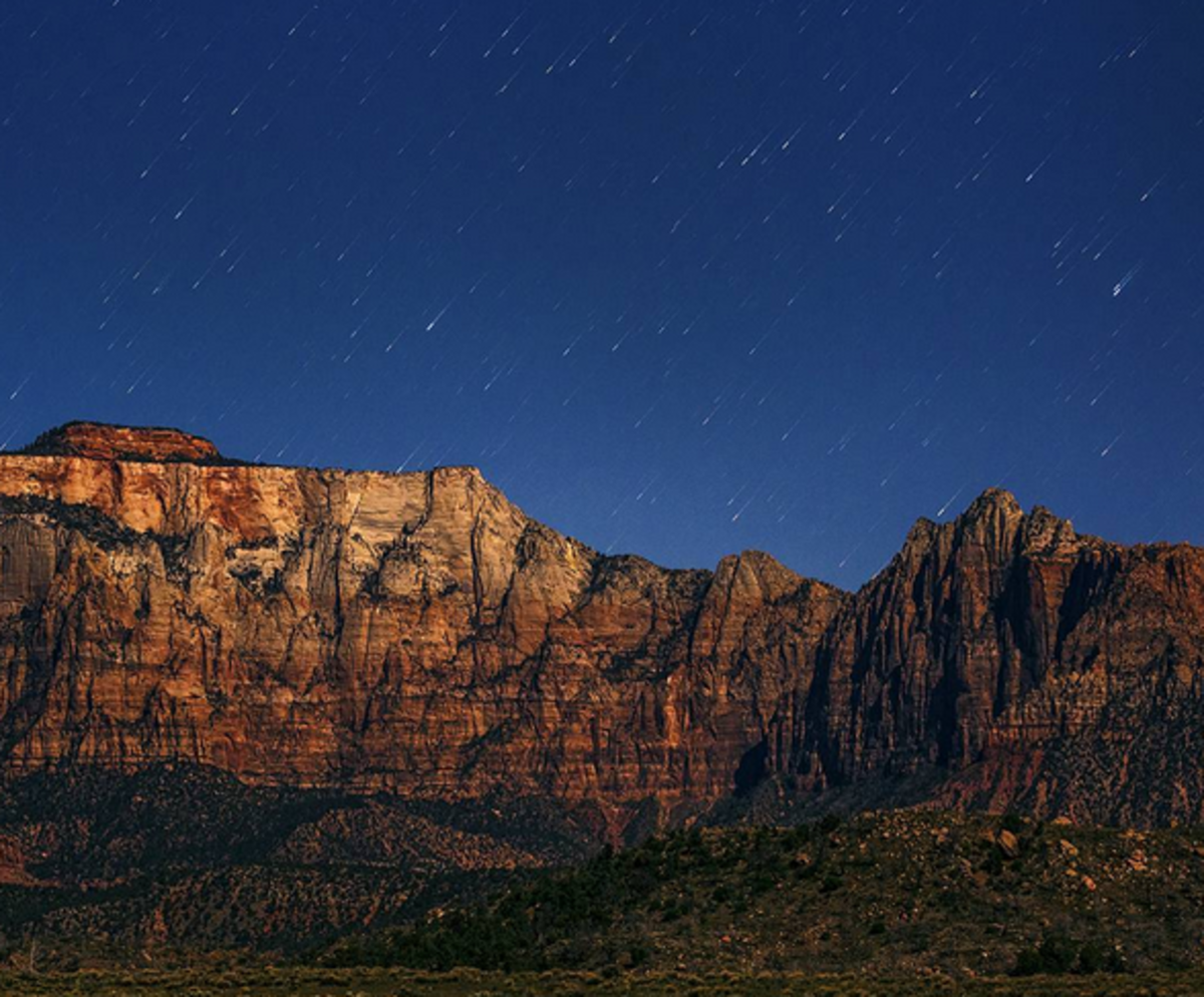 Instagram pics from Zion National Park at night are out of this world.