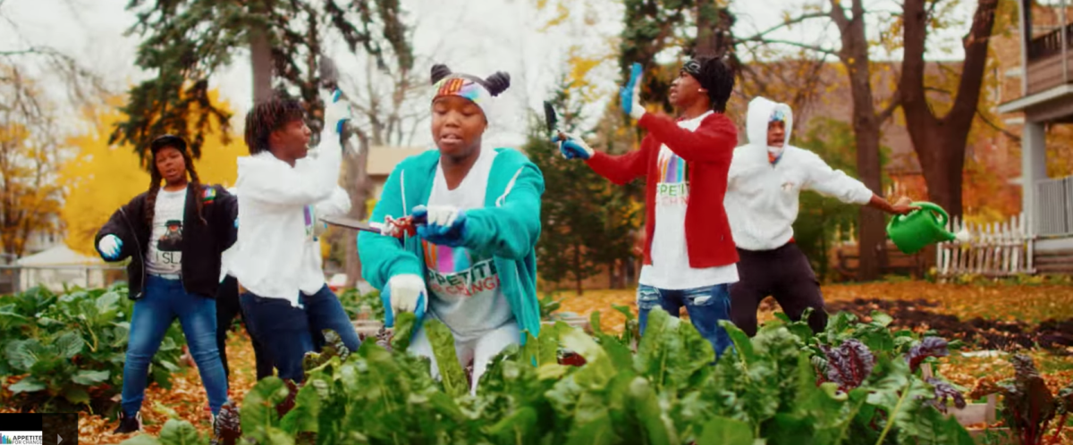 Kids rapping about healthy food